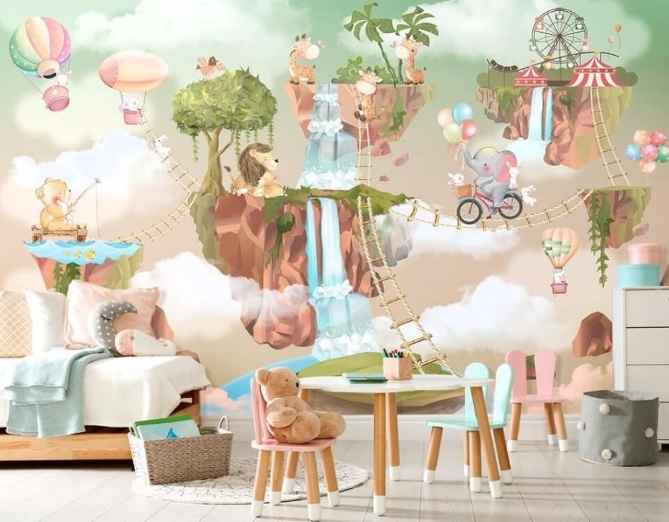 фотообои в детскую комнату сказочные