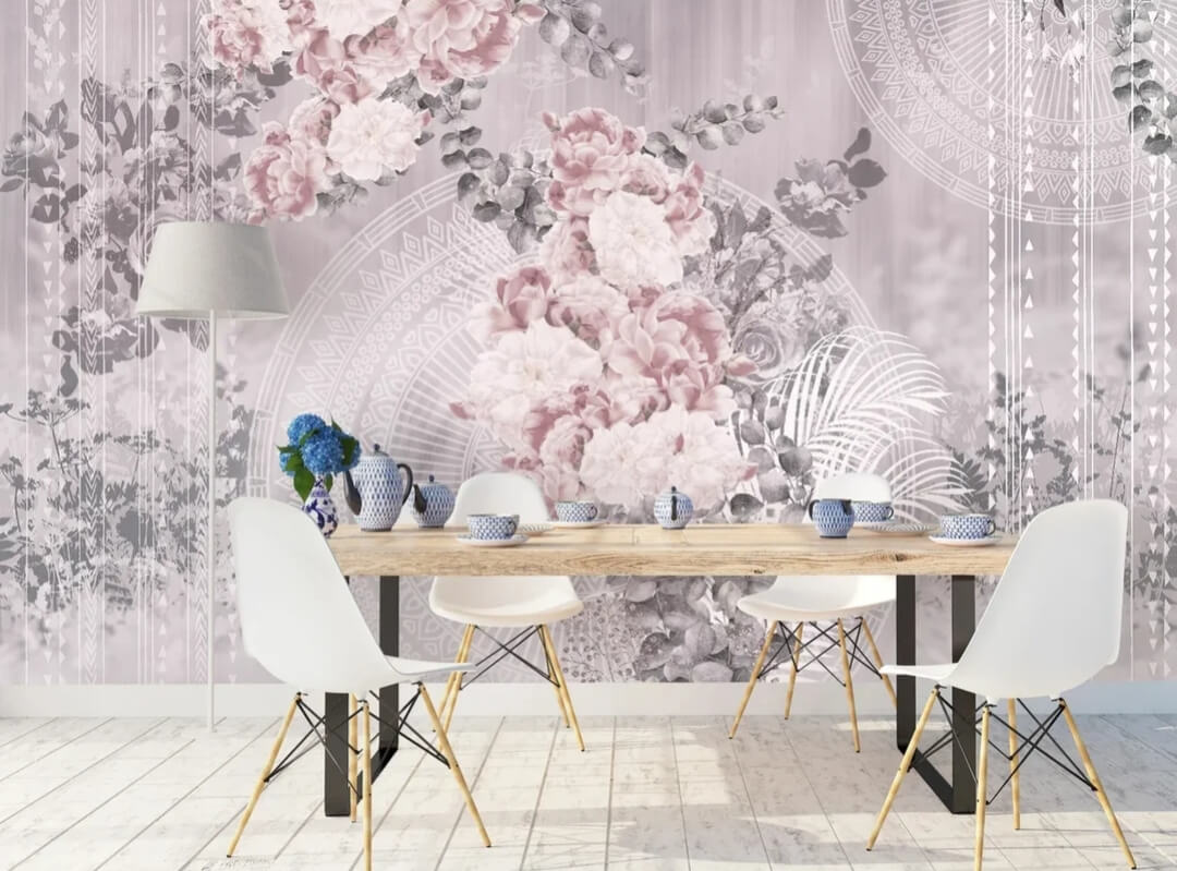 фотообои цветы и узоры на стену