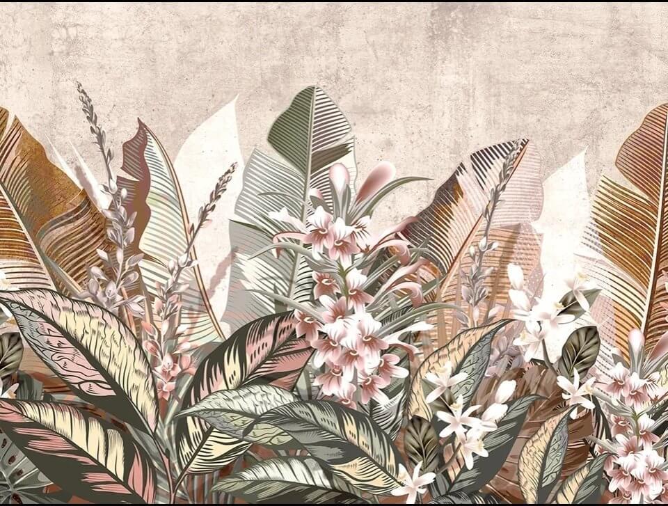 фотообои экзотические растения на стену