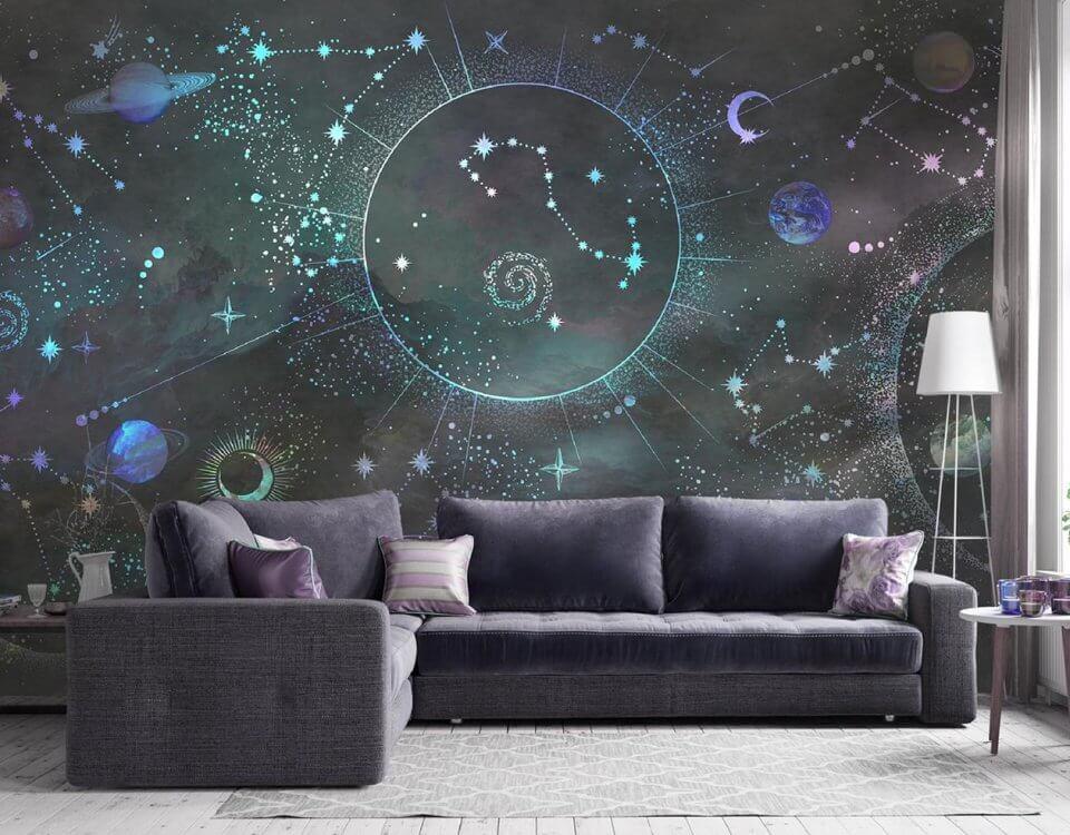 фотообои космос на стену темный фон