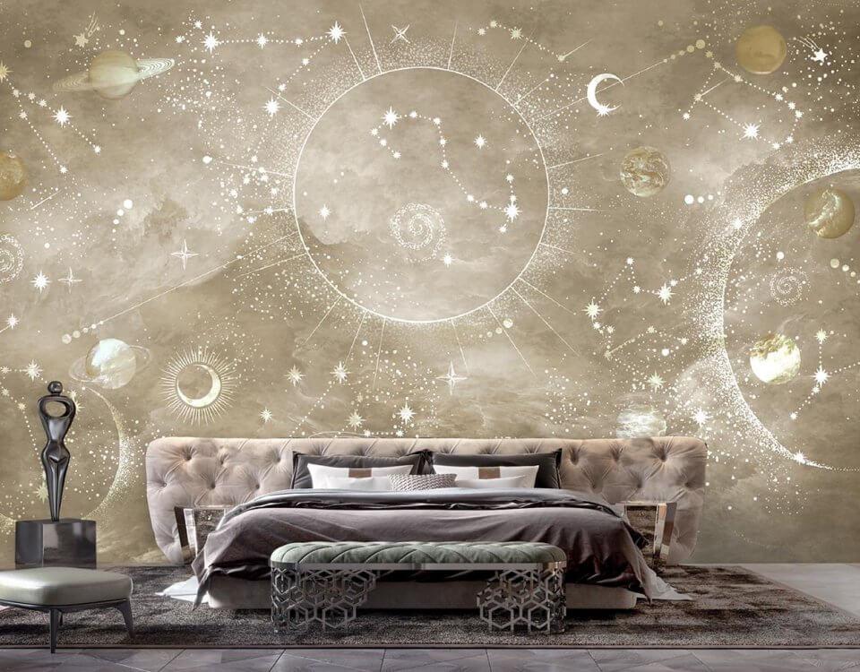 фотообои с космосом на стену светлые