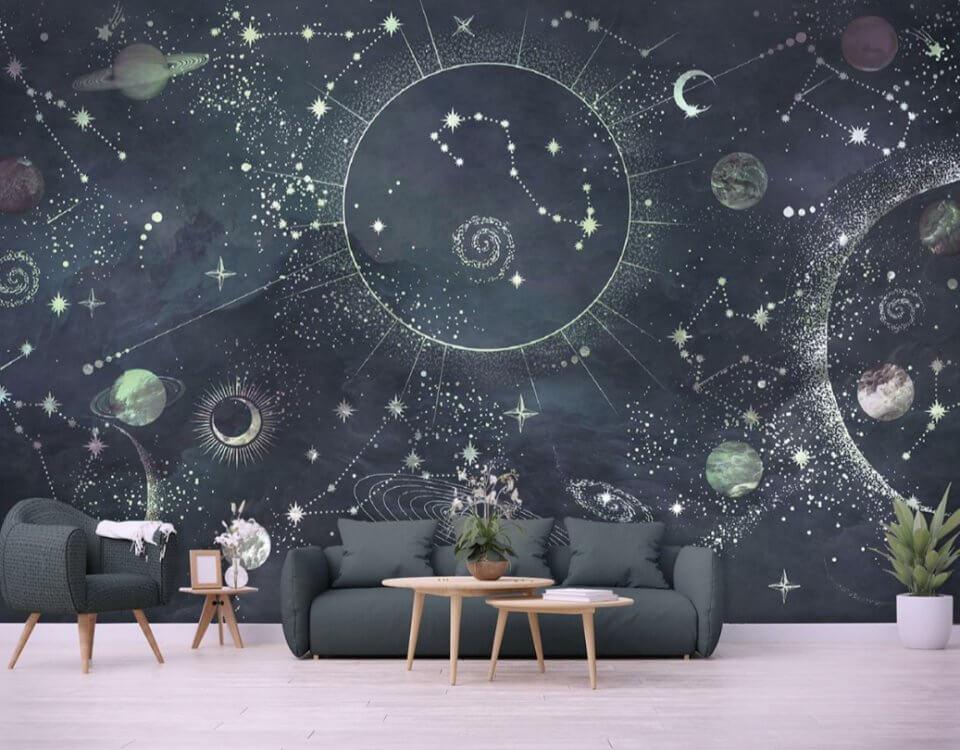 фотообои космос млечный путь на стену