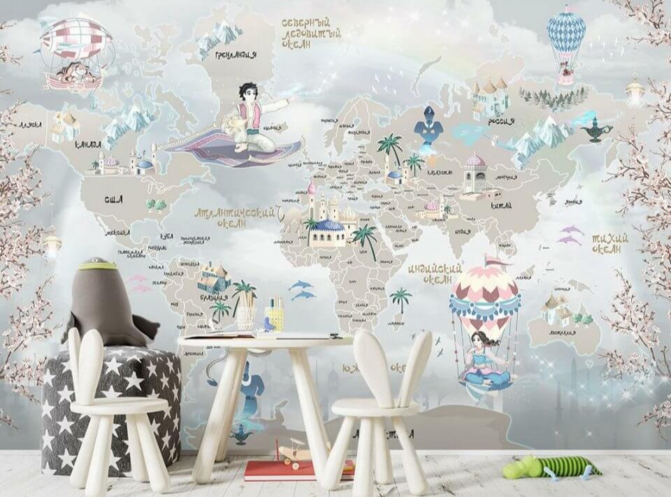 фотообои карта мира 2021 год хит