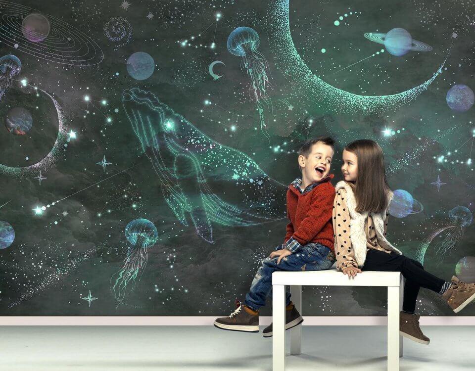 фотообои кит в детскую