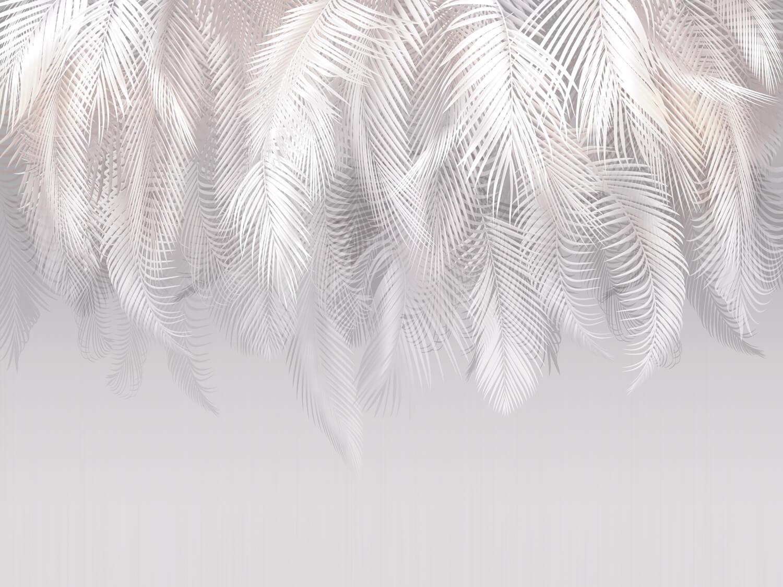 фотообои светлые перья флизелиновые