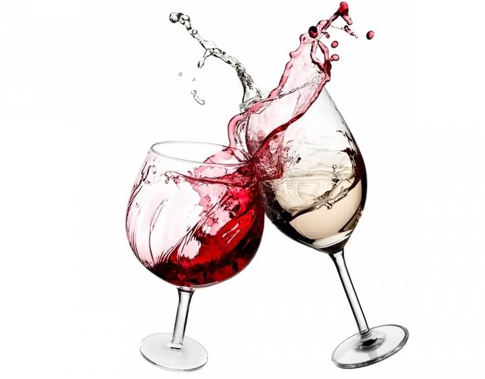 фотообои бокалы с вином