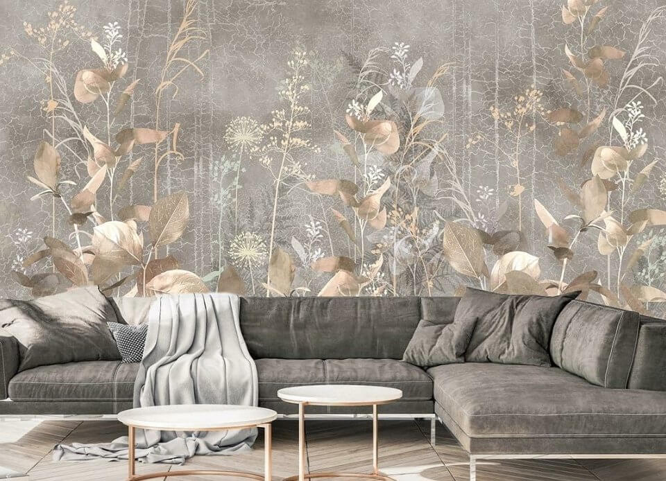 фреска с красивыми цветами