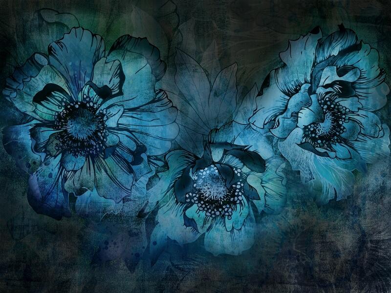 фотообои крупный цветок на стену