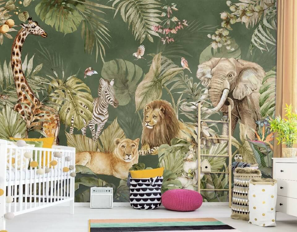 фотообои на стену джунгли