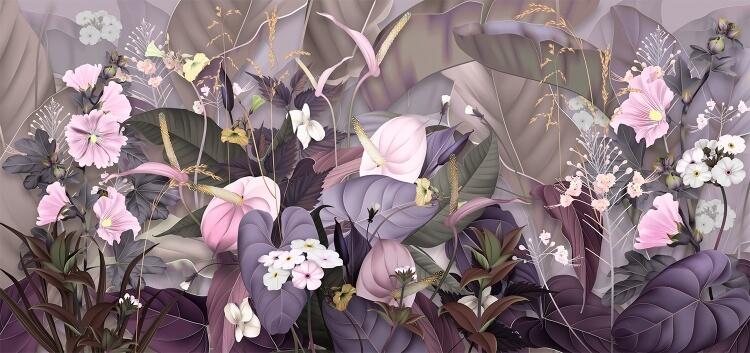 фотообои с цветочным принтом