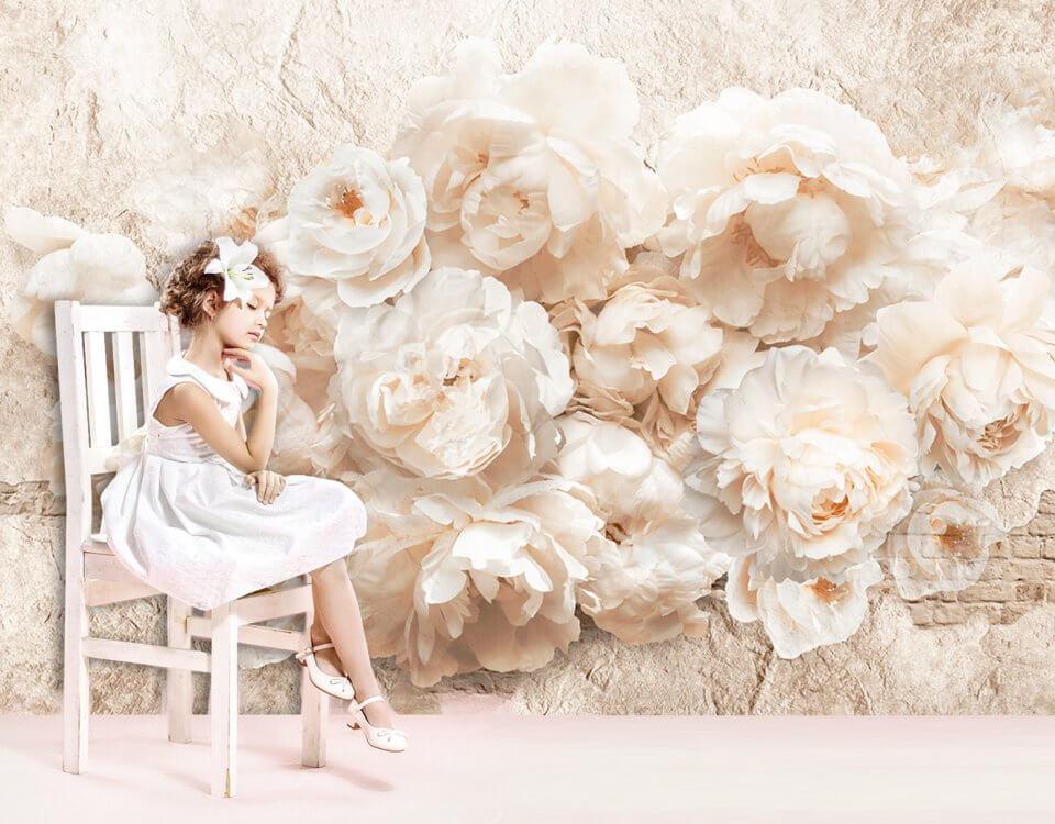 Фотообои красивые пионы на стену