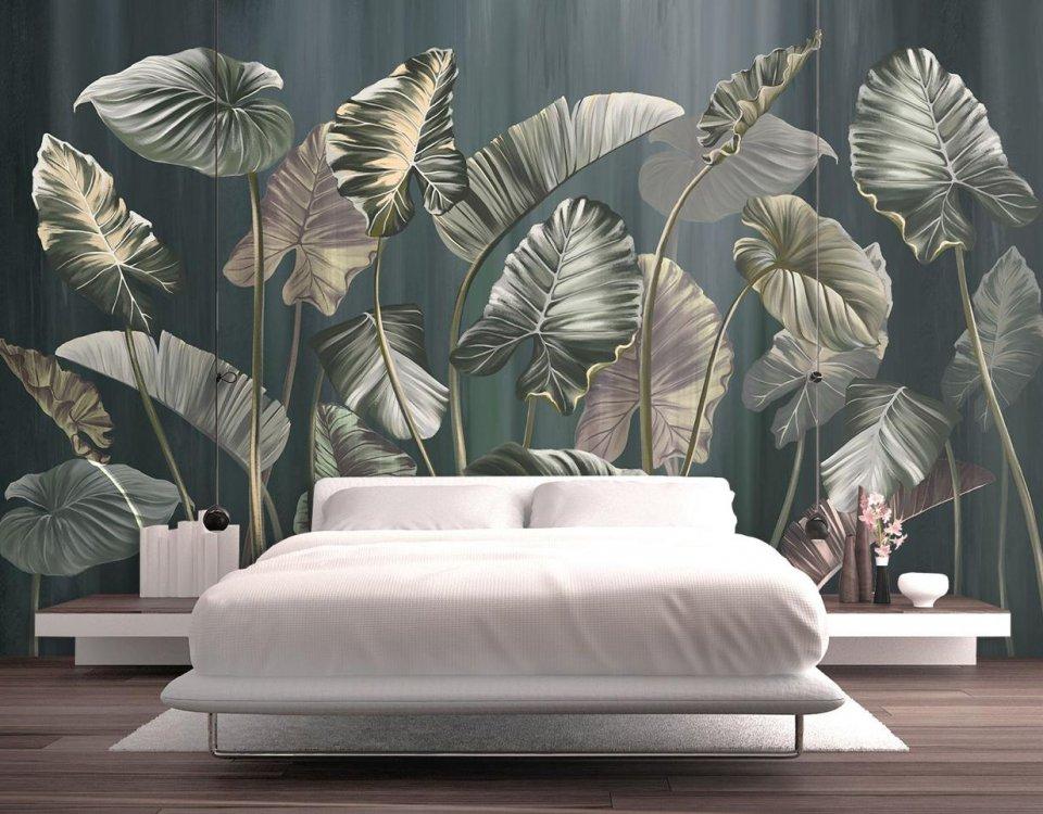 фотообои тропические листья на стену