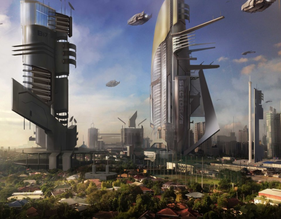 фотообои мегаполис