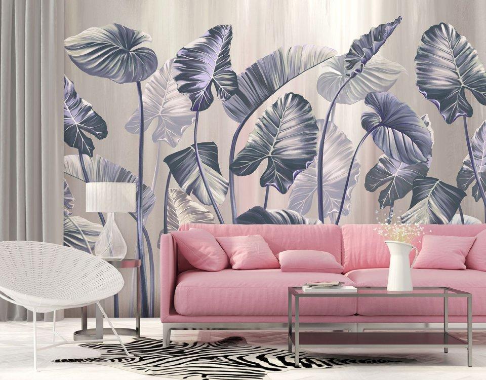 фотообои на стену пальмовые листья